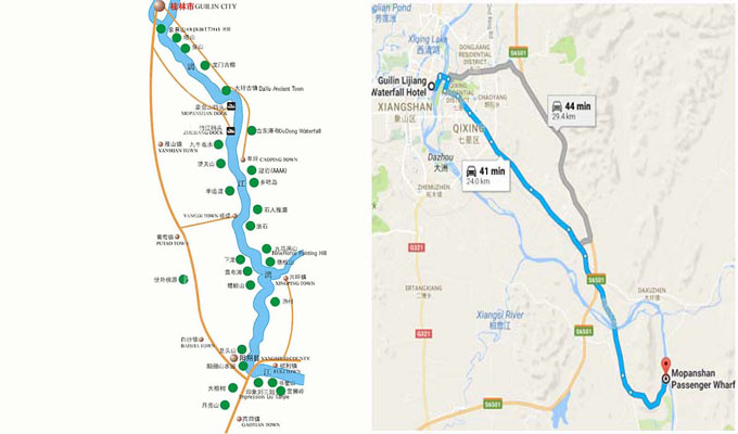 carte de la rivière LI