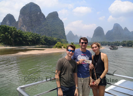 clients on Li River Cruise