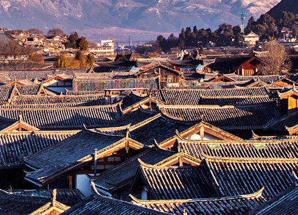 Endless rooftops of Lijiang ancient town