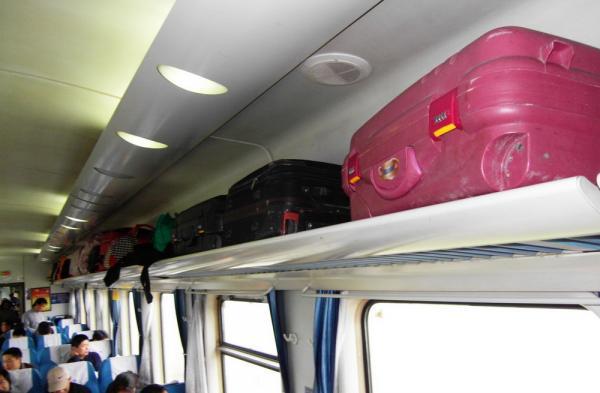 luggage rack on China bullet trains